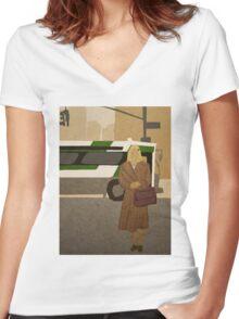 Margot Tenenbaum  Women's Fitted V-Neck T-Shirt