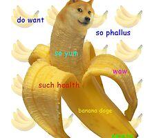 Banana Doge! by JordanRhysZubi