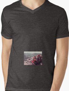 Red Flower  Mens V-Neck T-Shirt