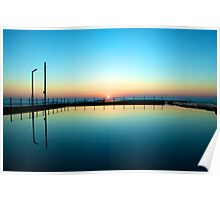 Sunrise over the rock pool Poster