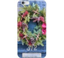 Christmas Wreath Watercolor iPhone Case/Skin