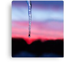 Icicle Sunset Canvas Print
