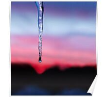 Icicle Sunset Poster