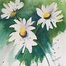 Three Daisies by Marsha Woods