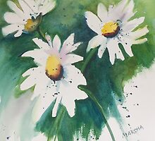 Three Daisies by Marsha Woods