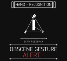 Obscene Gesture Alert Kids Clothes