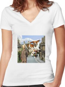 Hounds of the Baskervilles Women's Fitted V-Neck T-Shirt