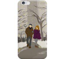 Snowy Stroll  iPhone Case/Skin