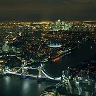 London by Night by The Shard by berndt2