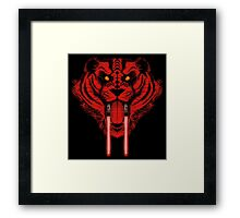 Dark Side Saber Toothed Tiger Framed Print
