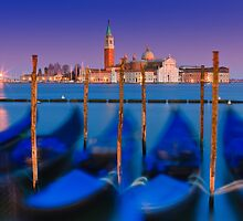 Dancing Gondolas in Venice by Henk Meijer