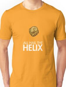 Twitch Plays Pokemon: All Hail The Helix! - Yellow/Orange with White Text Unisex T-Shirt