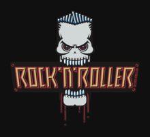Rock 'N' Roller Skull by MrFaulbaum