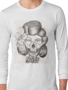 Hula Girl With the Skull Tattoo Long Sleeve T-Shirt