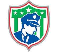 Security Guard Police Officer Shield by patrimonio