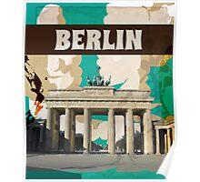Berlin Vintage Travel Poster Poster