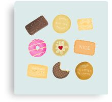 Biscuits for Tea Canvas Print