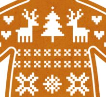 Sweater Pattern Gingerbread Cookie Sticker
