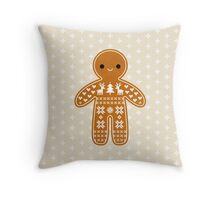 Sweater Pattern Gingerbread Cookie Throw Pillow