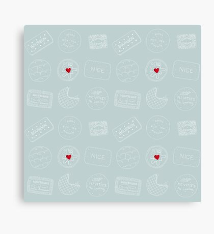 Biscuit doodles Canvas Print