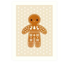 Sweater Pattern Gingerbread Cookie Art Print
