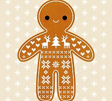 Sweater Pattern Gingerbread Cookie by daisy-beatrice