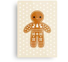 Sweater Pattern Gingerbread Cookie Metal Print