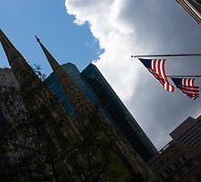 New York City Stars and Stripes by Georgia Mizuleva