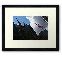 New York City Stars and Stripes Framed Print
