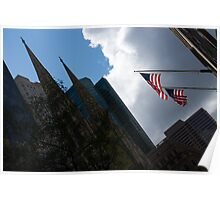 New York City Stars and Stripes Poster