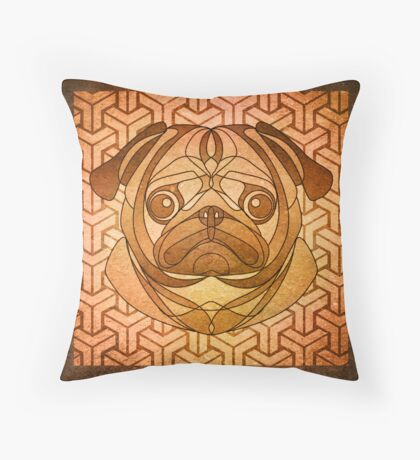 The Toasted Pug Throw Pillow