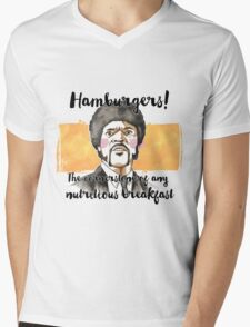 Pulp fiction - Jules Winnfield - Hamburgers! the cornerstone of any nutritious breakfast Mens V-Neck T-Shirt