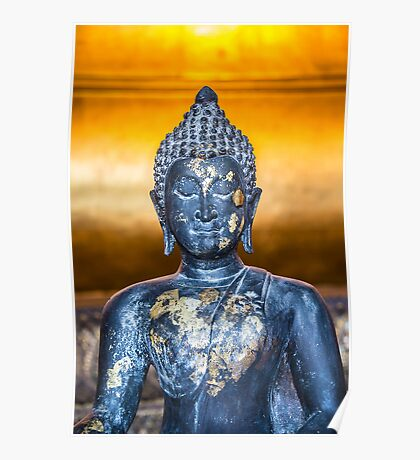Buddha Statuette in Wat Pho Poster