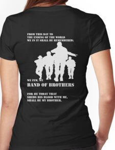We few, we BAND OF BROTHERS Womens Fitted T-Shirt