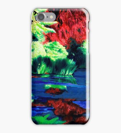 Blue swamp iPhone Case/Skin
