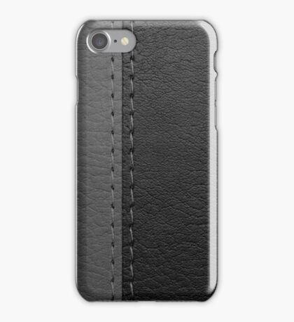 Black/Grey Leather iPhone Case/Skin