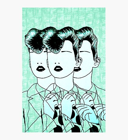 Rockabilly Triplets Photographic Print