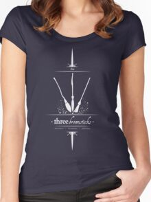 The Three Broomsticks in White Women's Fitted Scoop T-Shirt