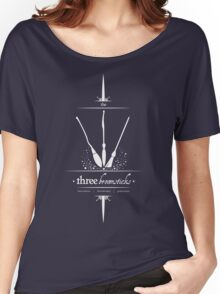 The Three Broomsticks in White Women's Relaxed Fit T-Shirt