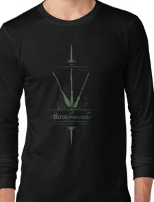 The Three Broomsticks in Green Long Sleeve T-Shirt