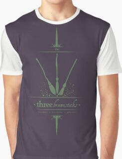 The Three Broomsticks in Green Graphic T-Shirt