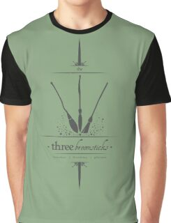 The Three Broomsticks in Gray Graphic T-Shirt