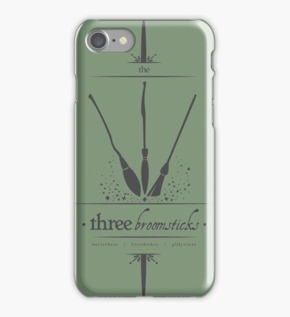 The Three Broomsticks in Gray iPhone Case/Skin