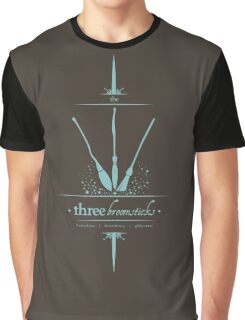 The Three Broomsticks in Blue Graphic T-Shirt