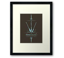The Three Broomsticks in Blue Framed Print