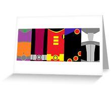 Teen Titan poster Greeting Card