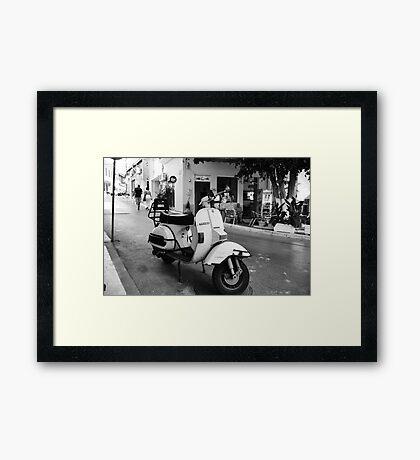 Vespa Cafe Framed Print