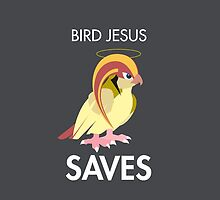 Twitch Plays Pokemon: Bird Jesus Saves! iPhone/Galaxy Case - Light Grey by Twitch Plays Pokemon