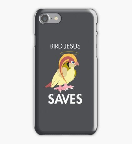 Twitch Plays Pokemon: Bird Jesus Saves! iPhone/Galaxy Case - Light Grey iPhone Case/Skin