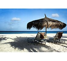 Lounging Chairs Photographic Print